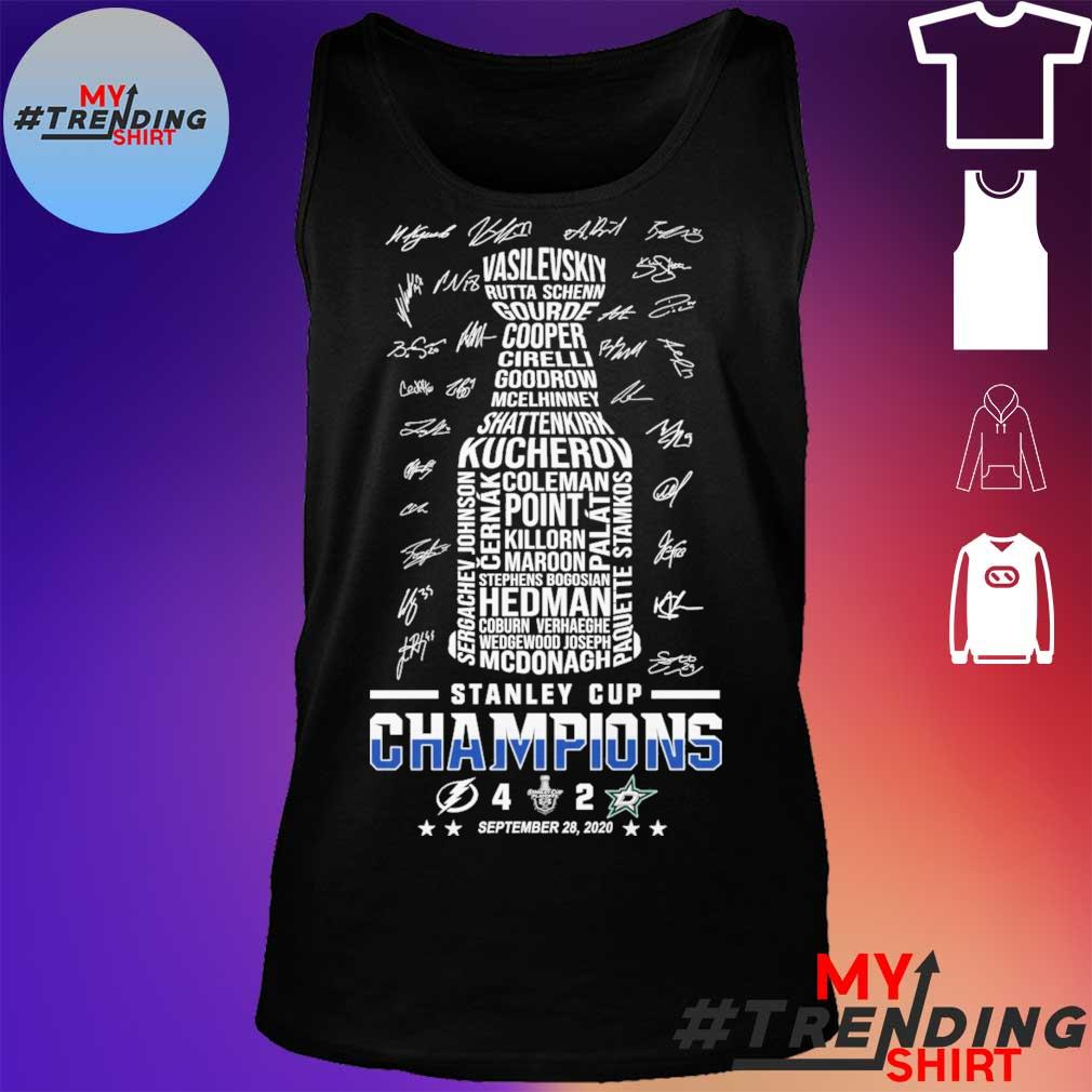 Stanley cup Champions 4 2 September 28 2020 signatures s tank top