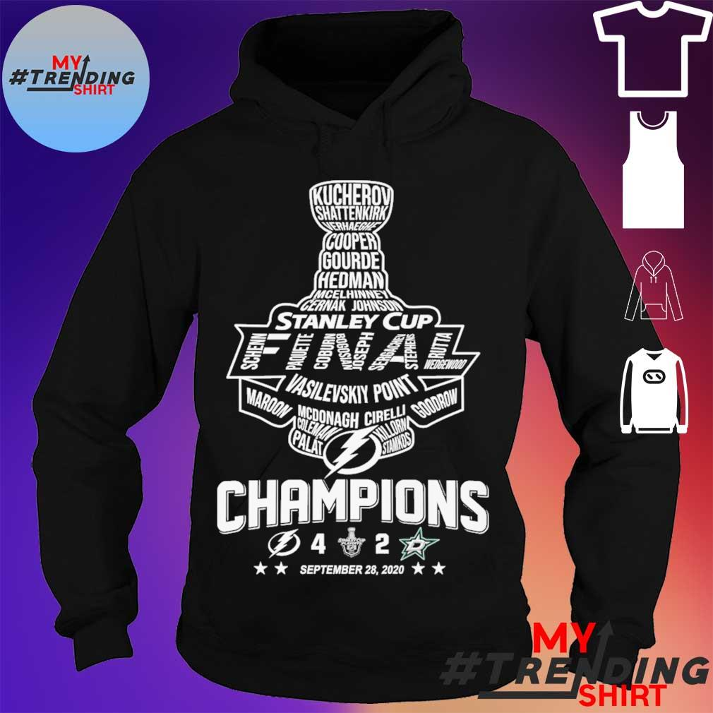 Stanley cup Vasilevskiy Point Champions September 28 2020 s hoodie