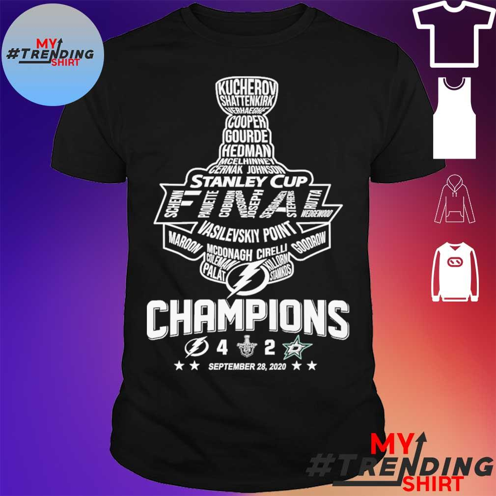 Stanley cup Vasilevskiy Point Champions September 28 2020 shirt