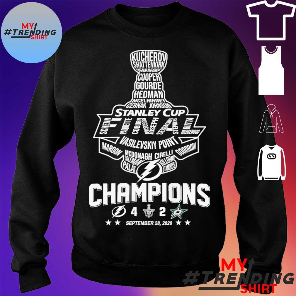 Stanley cup Vasilevskiy Point Champions September 28 2020 s sweater
