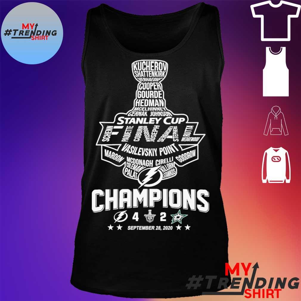 Stanley cup Vasilevskiy Point Champions September 28 2020 s tank top