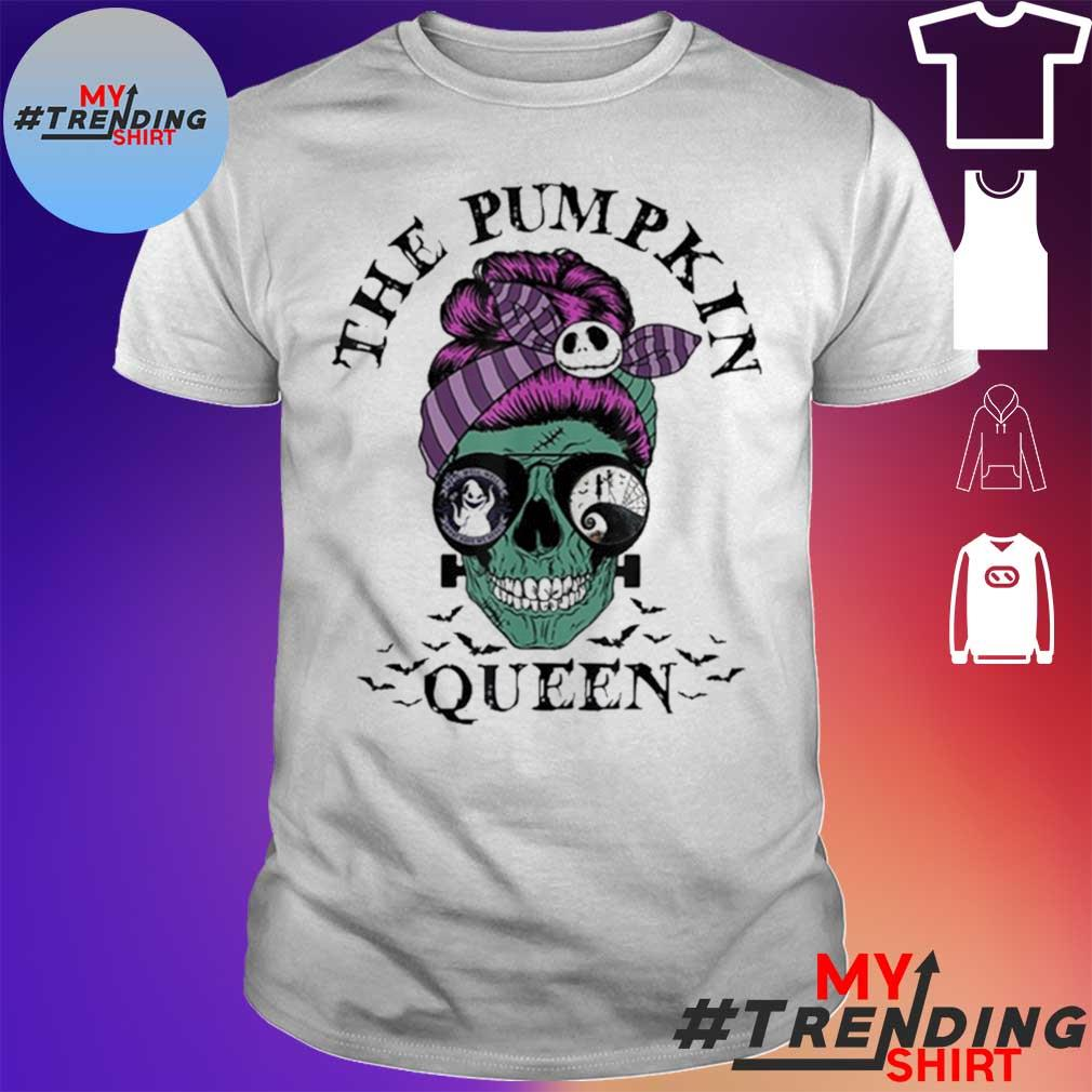 The Pumpkin Queen Skull Women Shirt