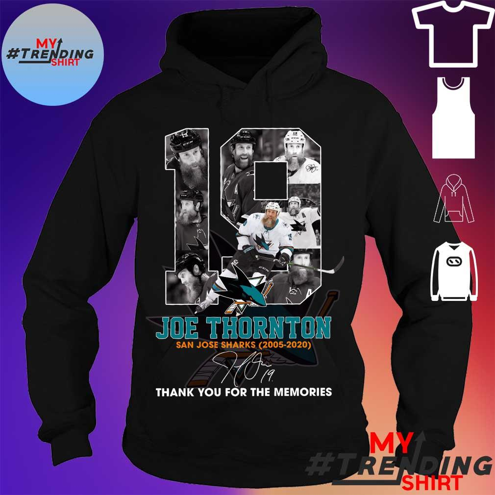 19 joe thornton thank you for the memories s hoodie