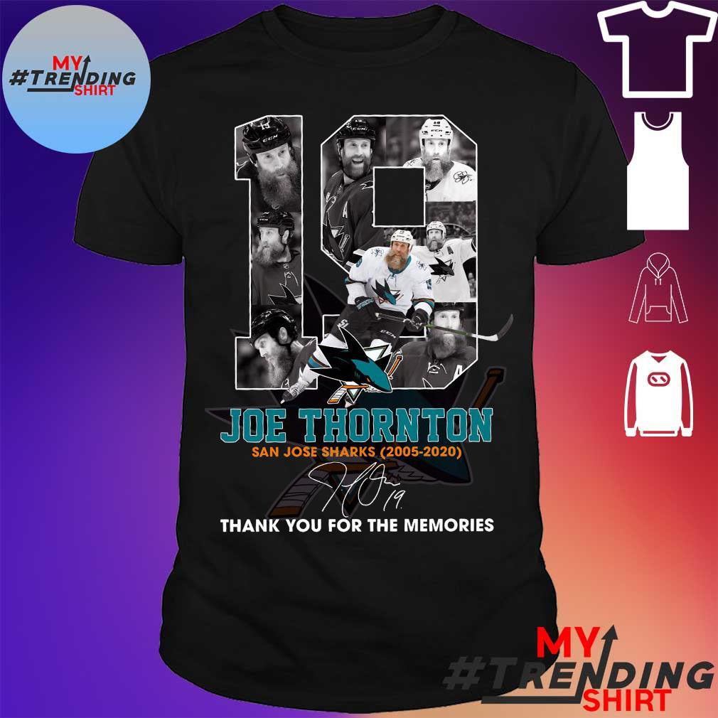 19 joe thornton thank you for the memories shirt