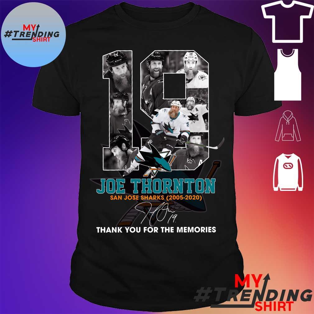 19 joe thornton thank you for the memories shirt