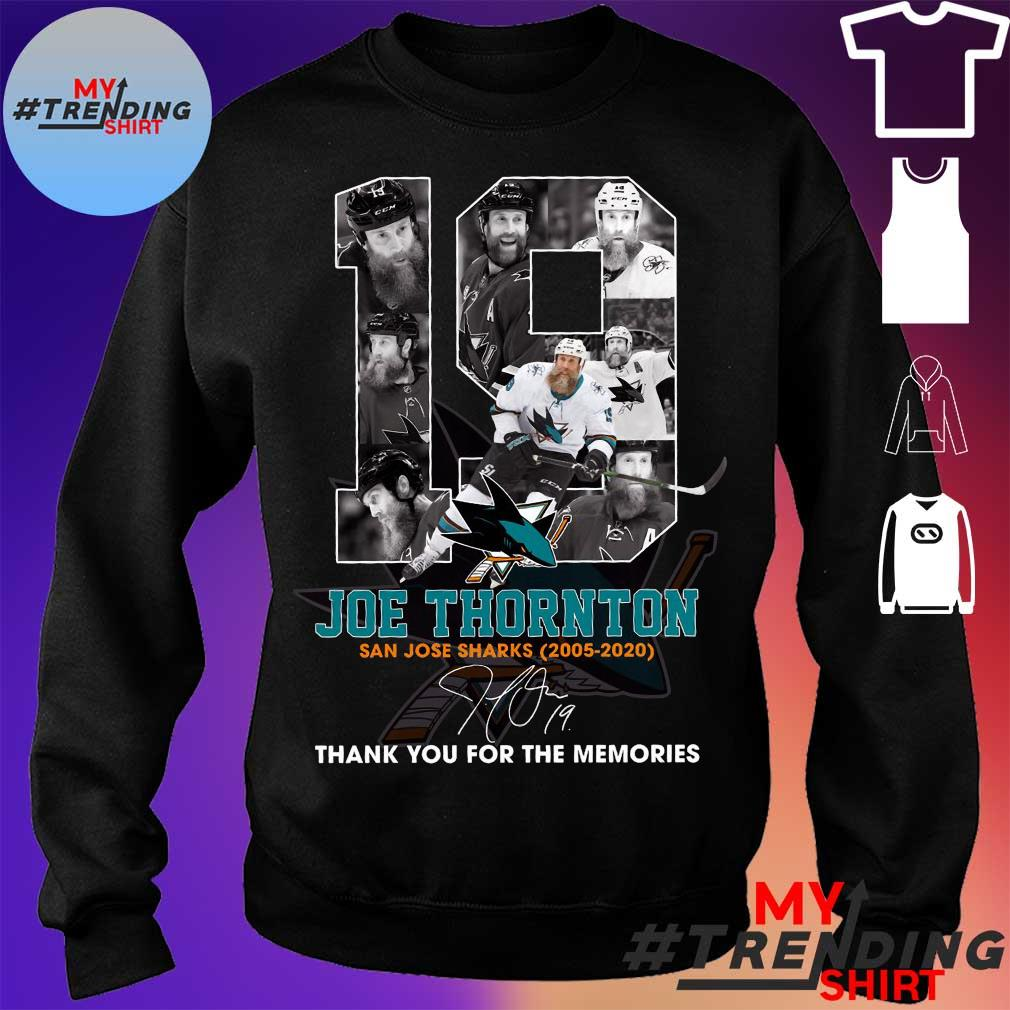 19 joe thornton thank you for the memories s sweater