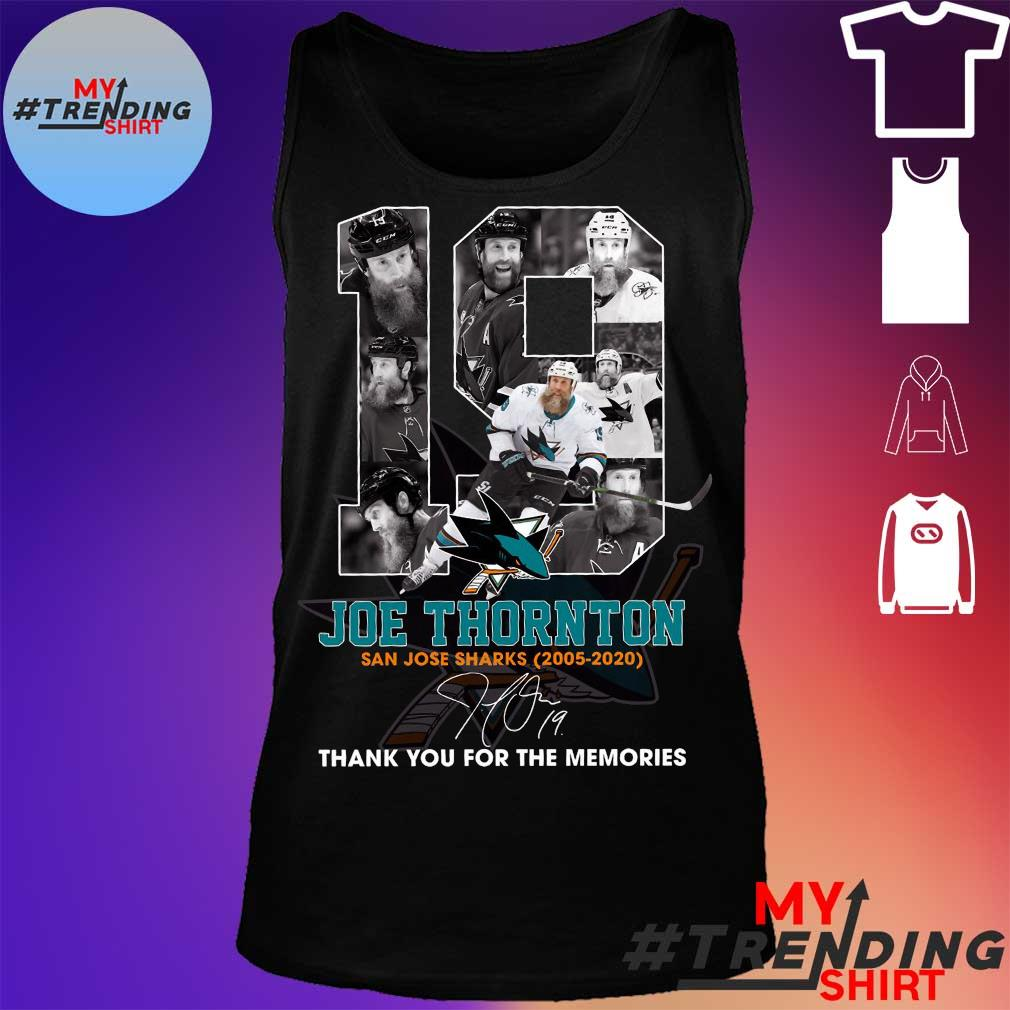19 joe thornton thank you for the memories s tank top