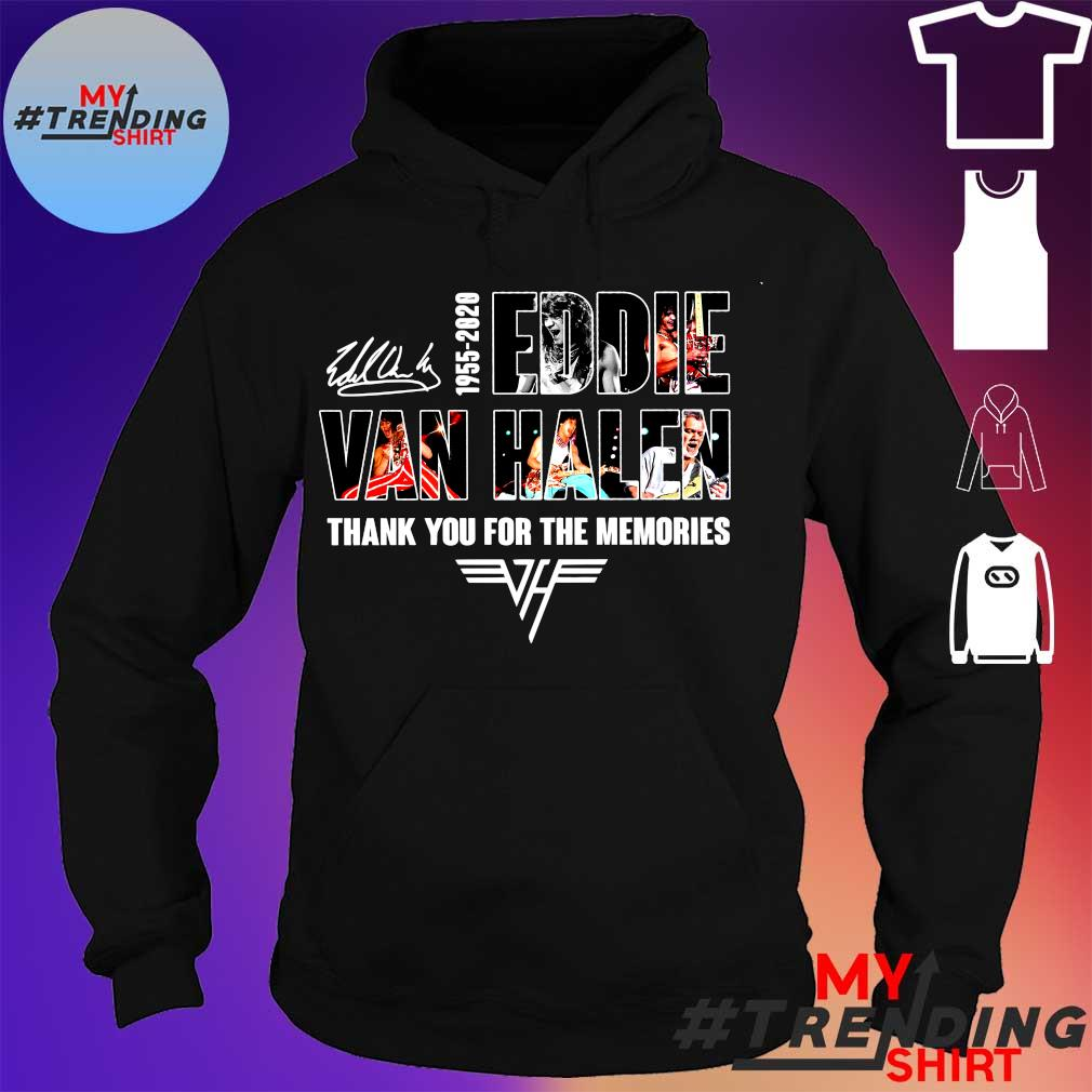 1955-2020 eddie van halen thank you for memories s hoodie