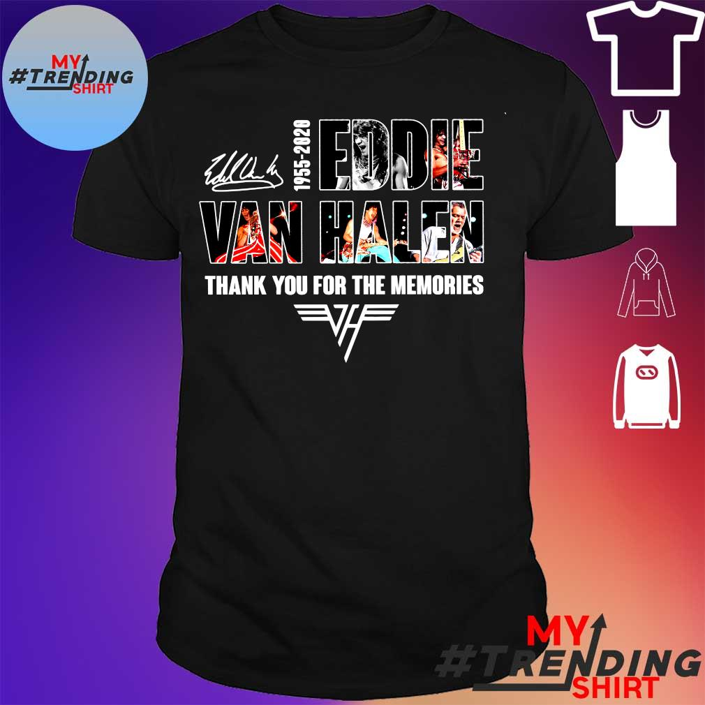 1955-2020 eddie van halen thank you for memories shirt