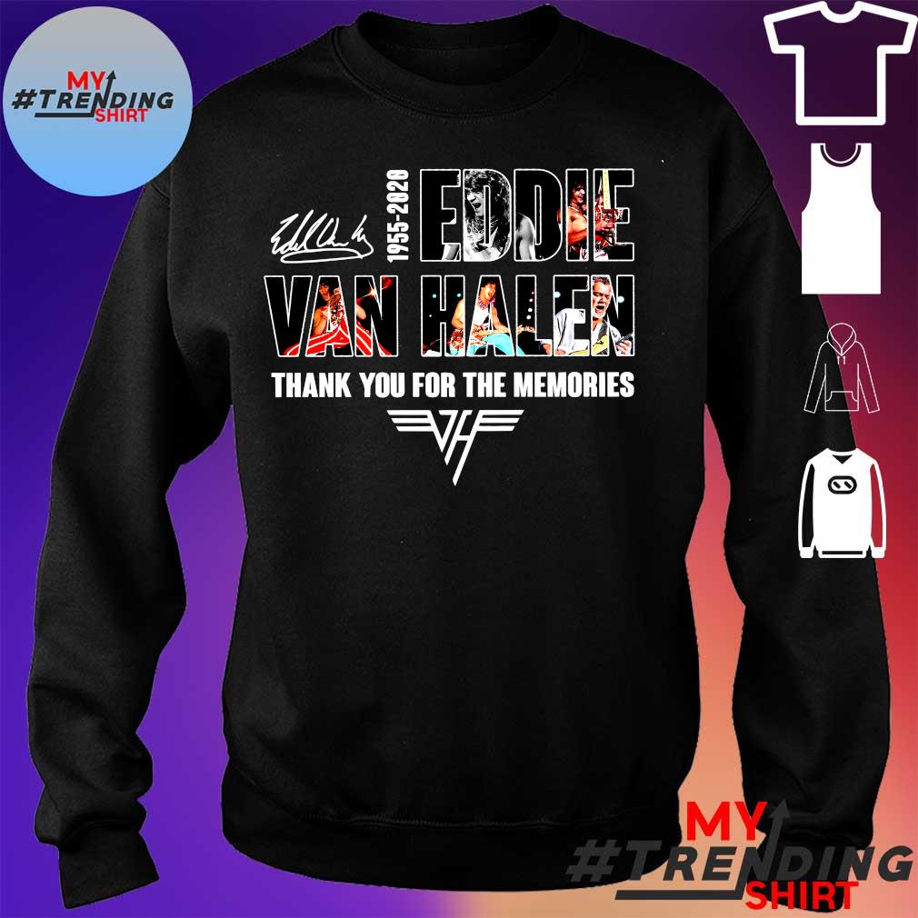 1955-2020 eddie van halen thank you for memories s sweater