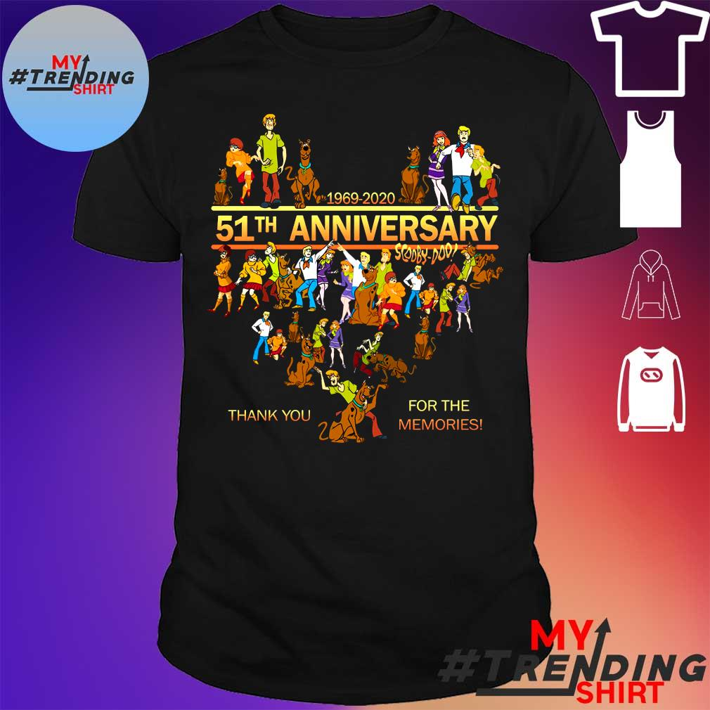 1969-2020 51th anniversary scooby doo thank you for the memories shirt