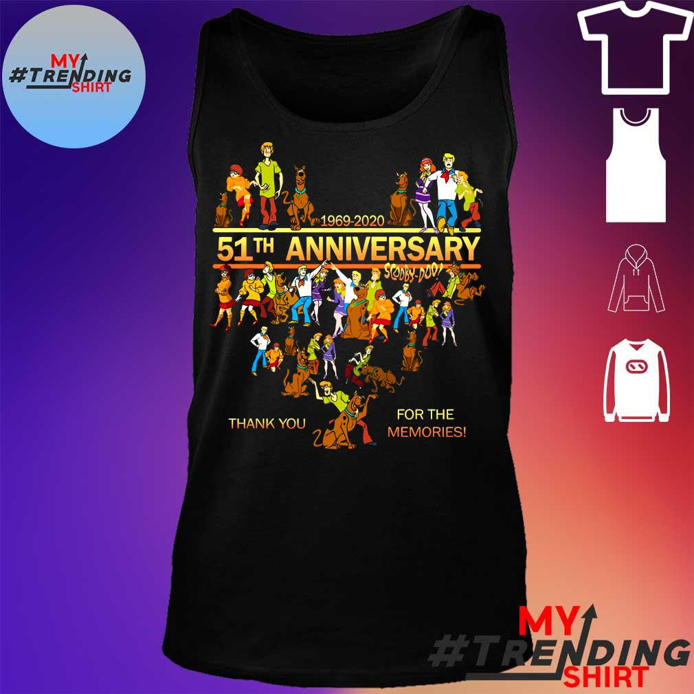 1969-2020 51th anniversary scooby doo thank you for the memories s tank top