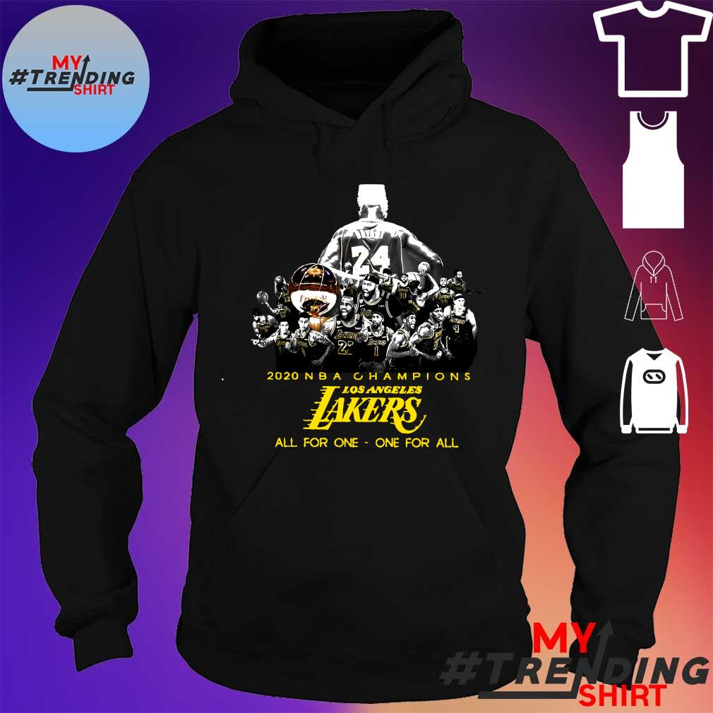 2020 nbn champions los angeles lakers all for one one for all s hoodie