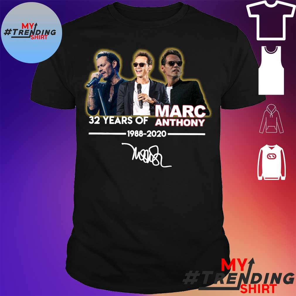 32 Years of Marc Anthony 1988 2020 signature shirt