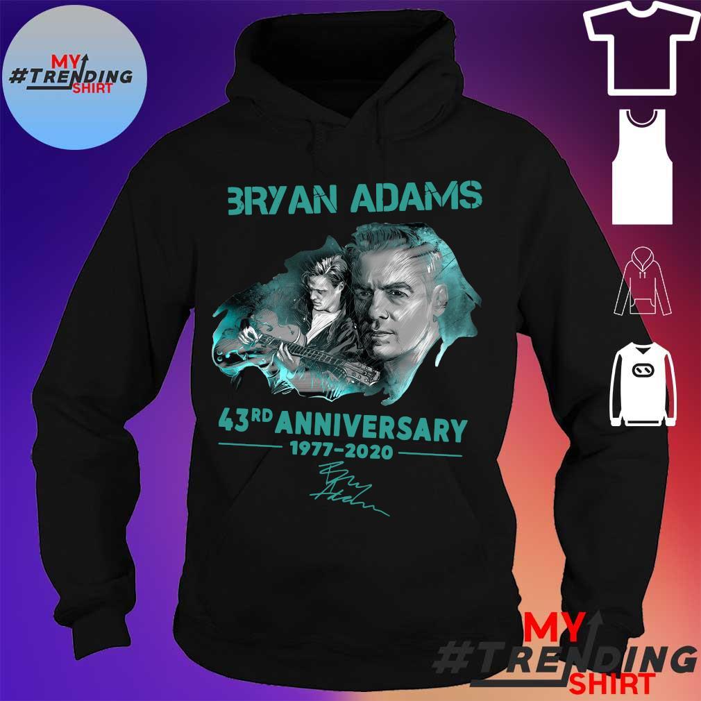 Bryan adams 43rd anniversary 1977-2020 s hoodie