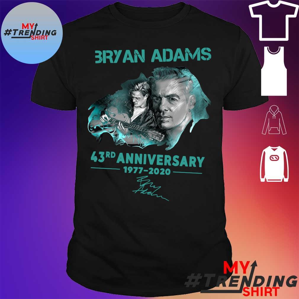 Bryan adams 43rd anniversary 1977-2020 shirt