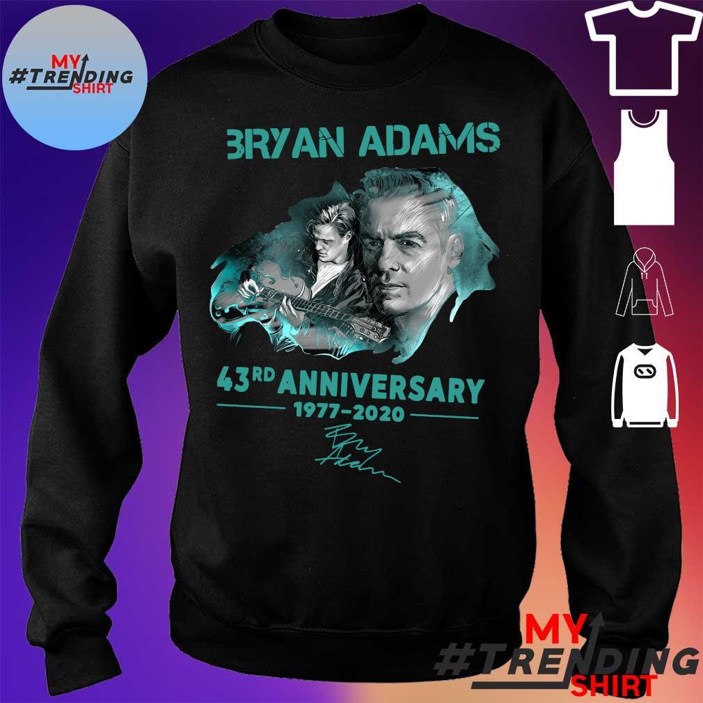 Bryan adams 43rd anniversary 1977-2020 s sweater