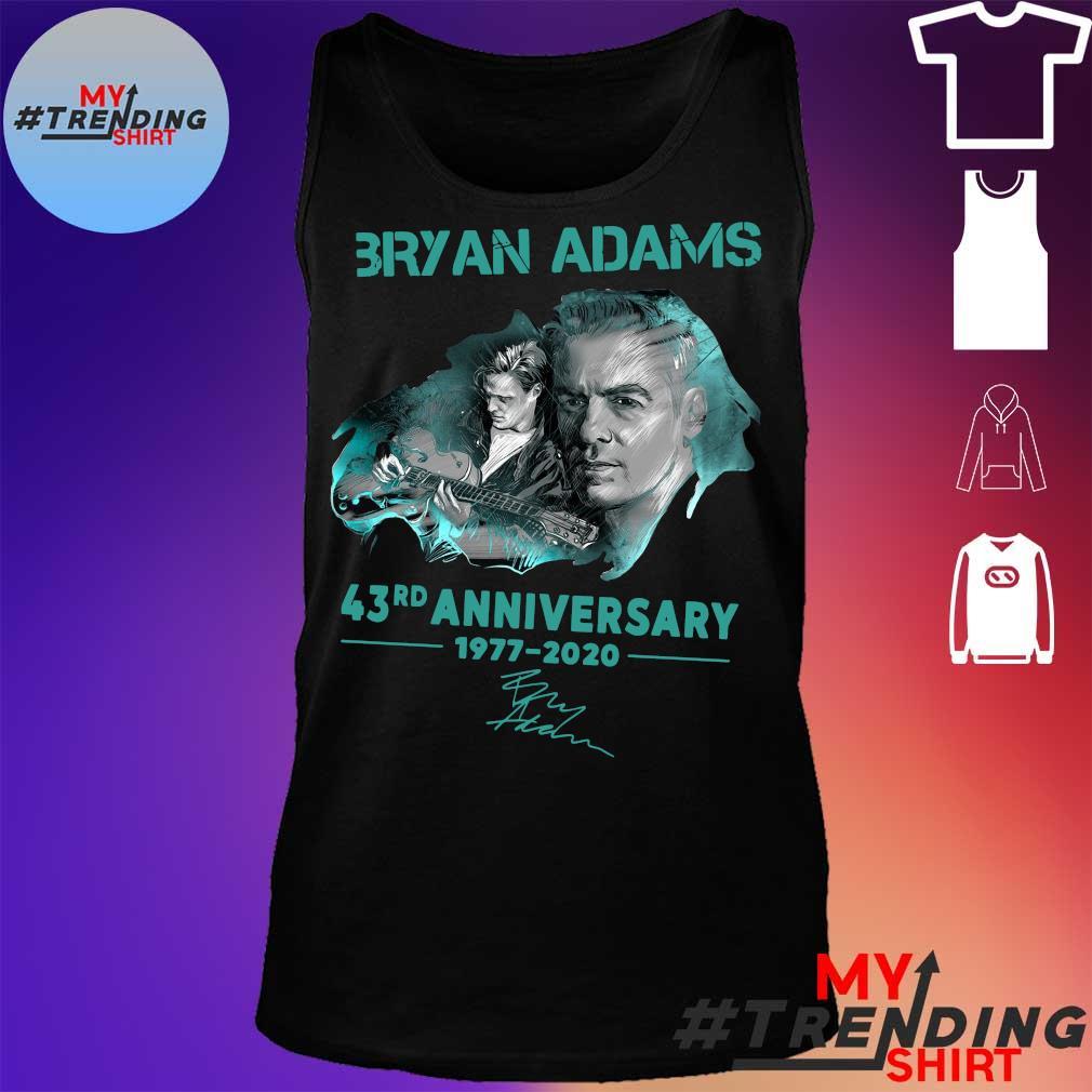 Bryan adams 43rd anniversary 1977-2020 s tank top