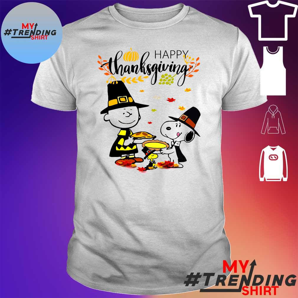 Charlie Brown and Snoopy Happy Thanksgiving shirt