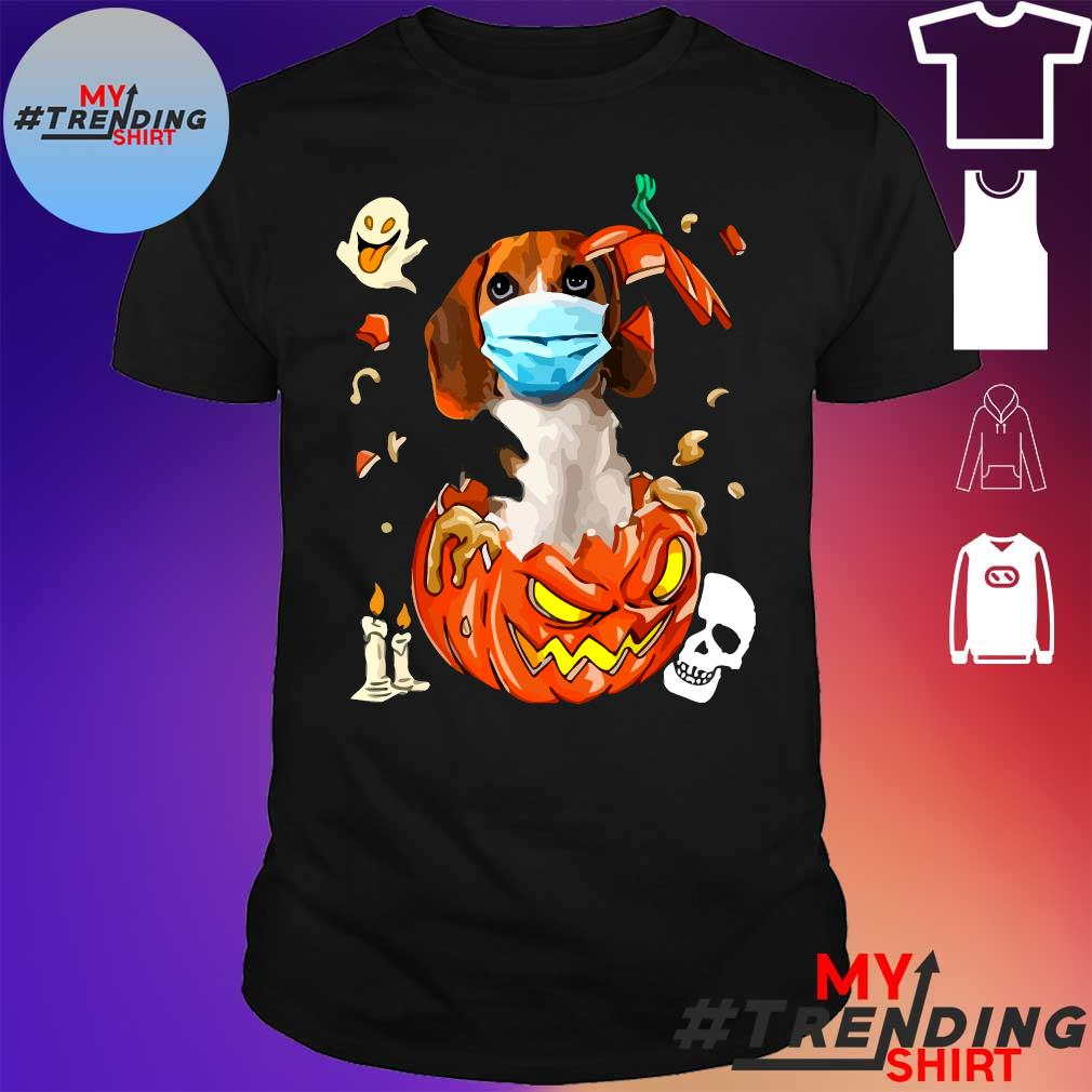 dog pumpkin halloween shirt