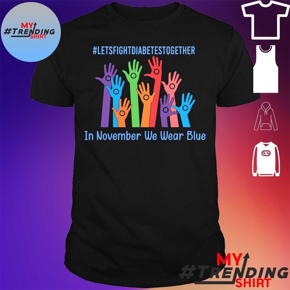 #Letsfightdiabettesstogether hand in november we wear blue shirt