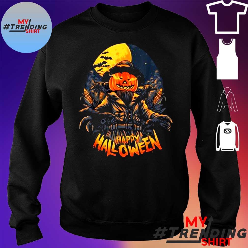Premium Scarecrow In Halloween Pumpkin Happy Halloween Great Gift s sweater
