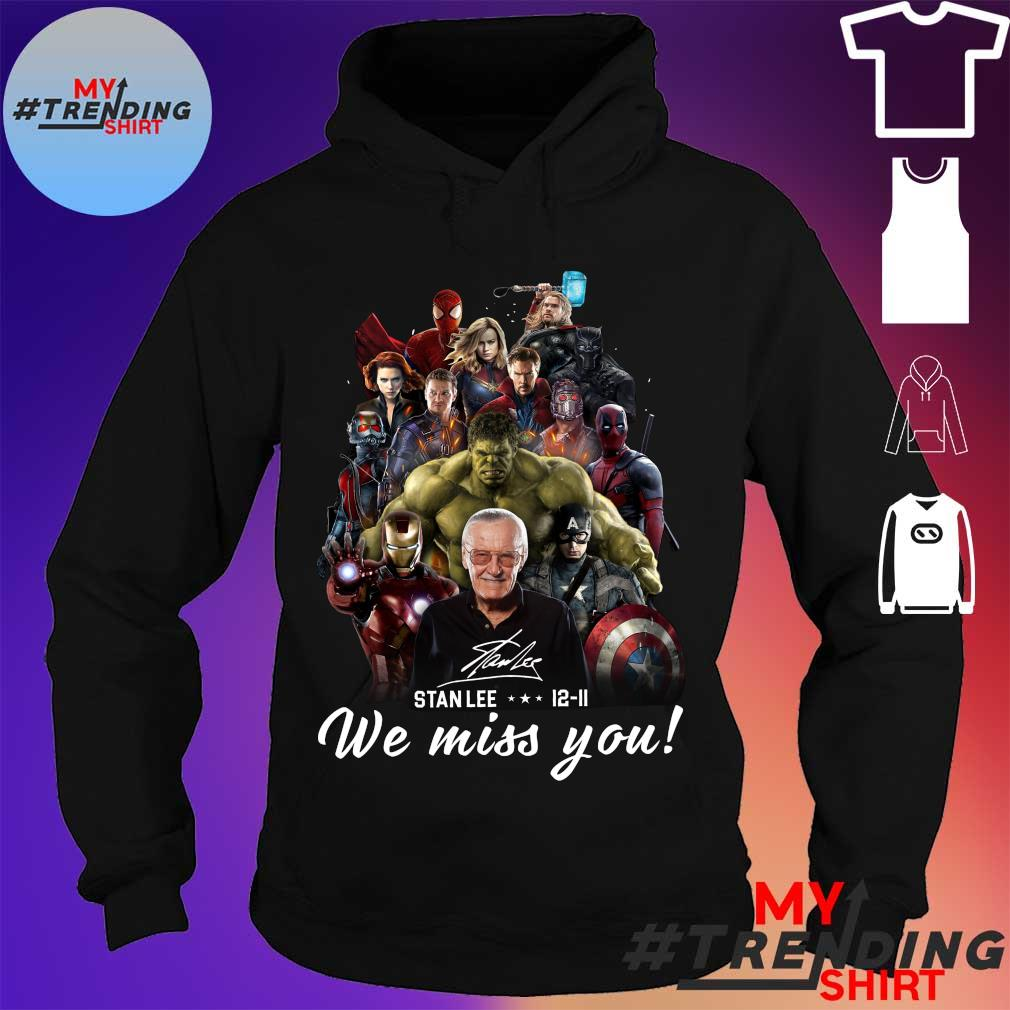 Stainless superhero stan lee 12-11 we miss you s hoodie