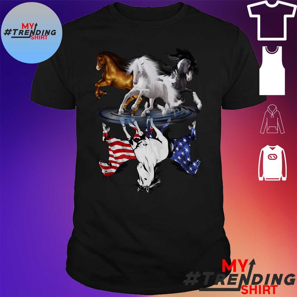 the three horse shirt
