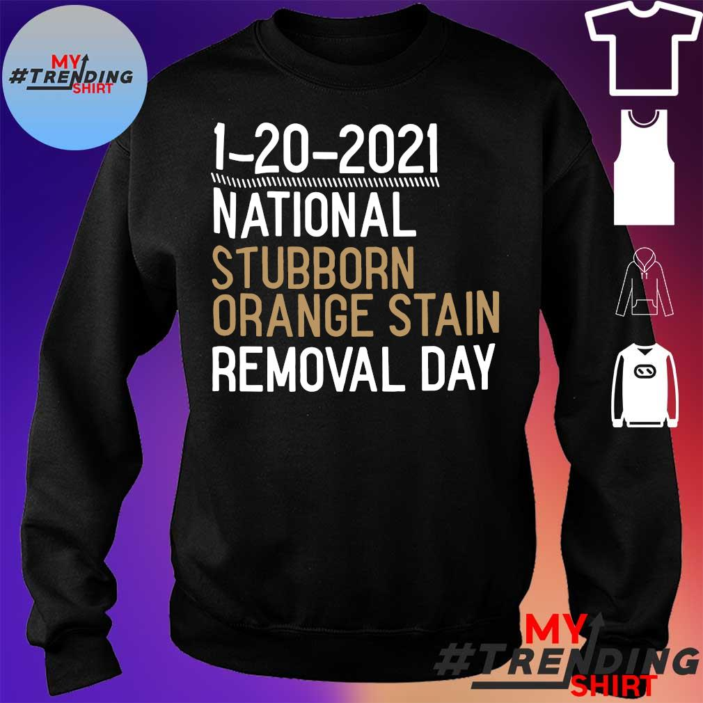 1-20-2021 national stubborn orange stain removal day s sweater