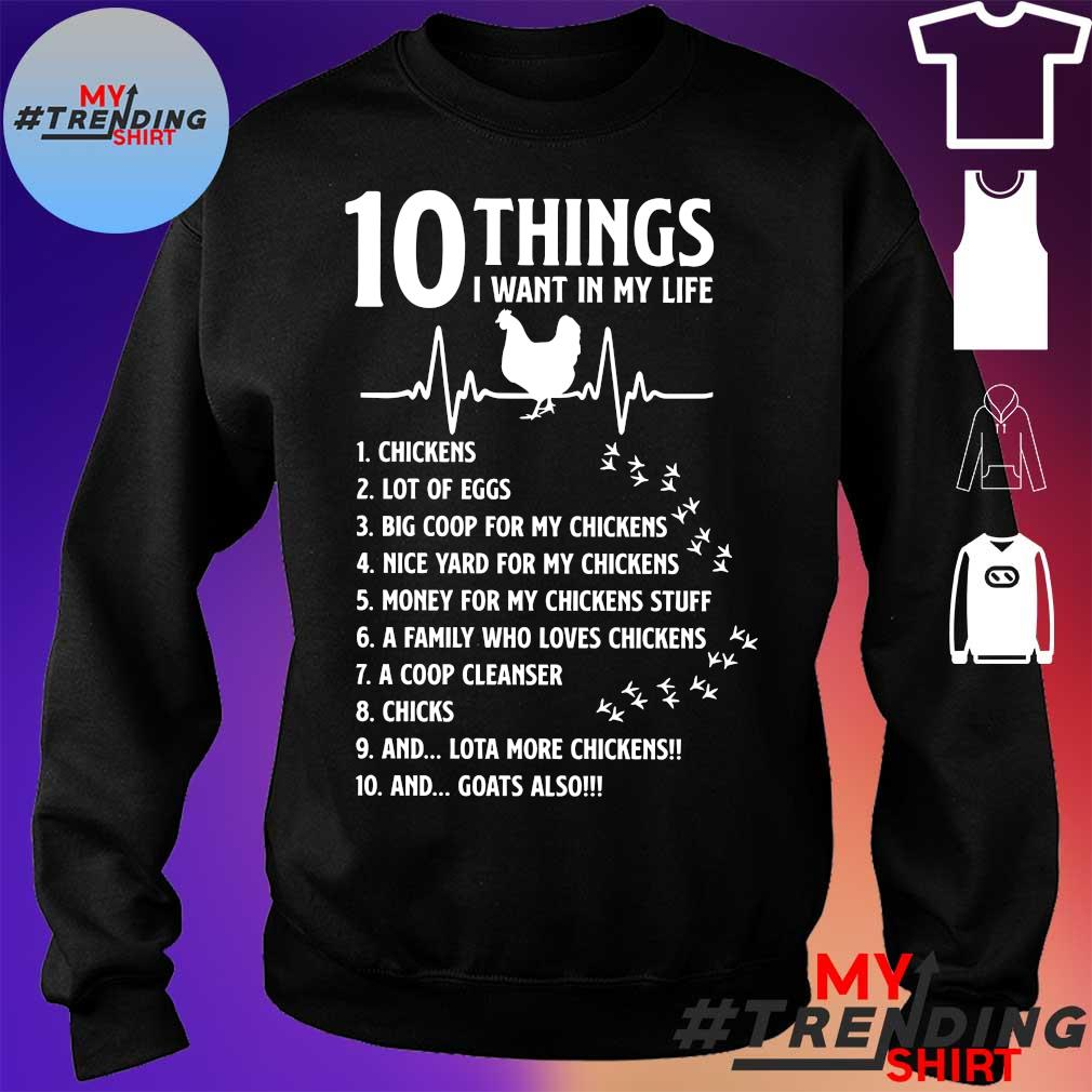 10 things I want in my life chickens s sweater