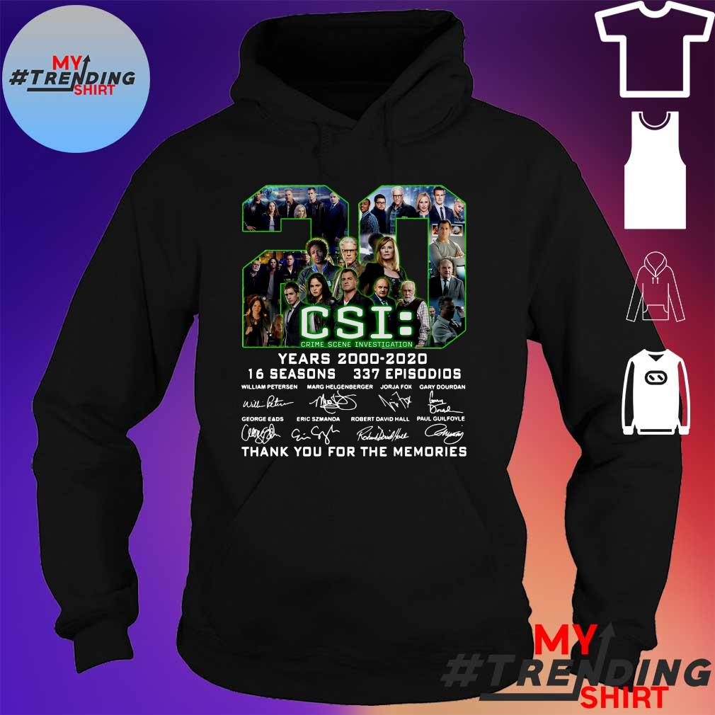 20 csi years 2000 2020 16 seasons 337 episodios thank you for the memories s hoodie