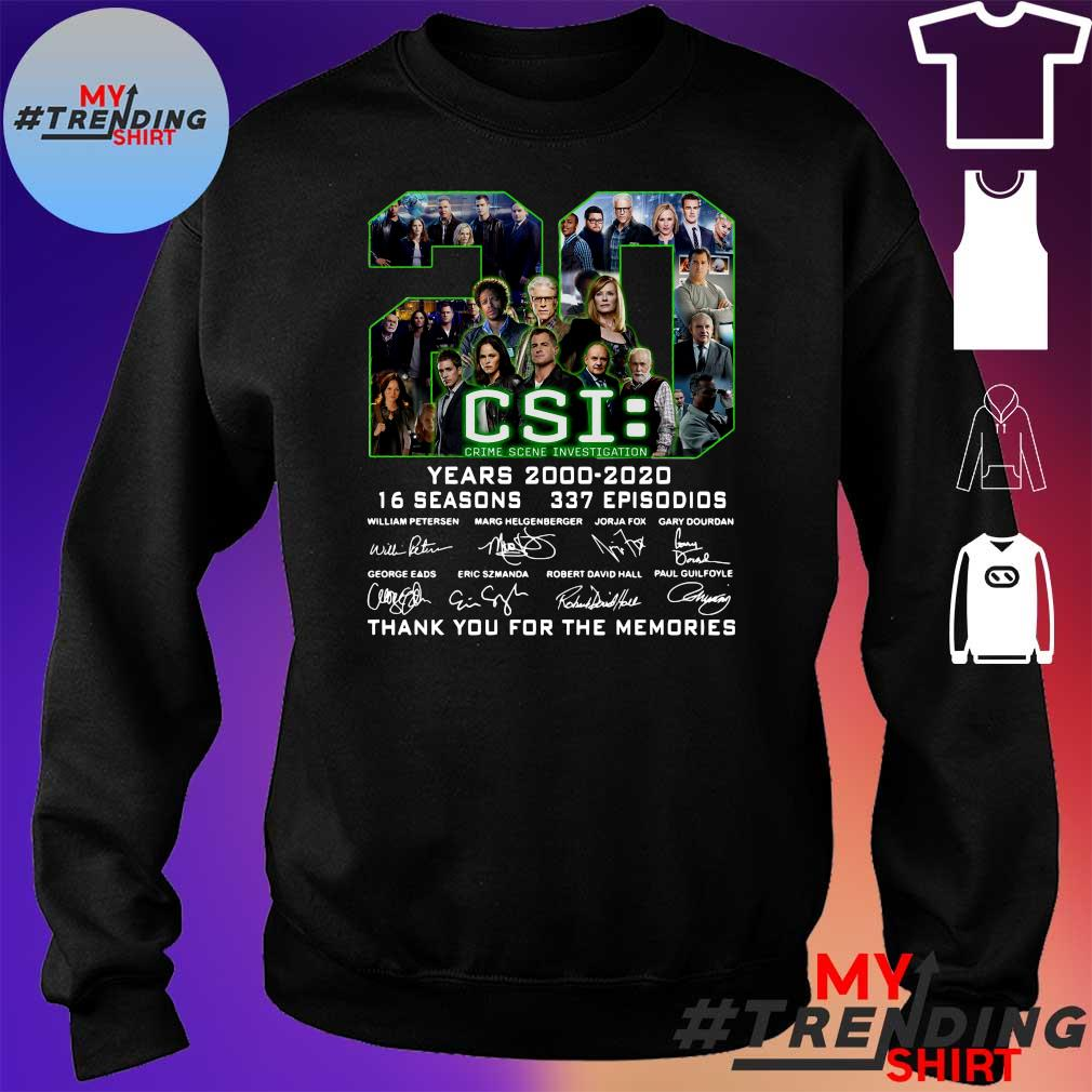 20 csi years 2000 2020 16 seasons 337 episodios thank you for the memories s sweater