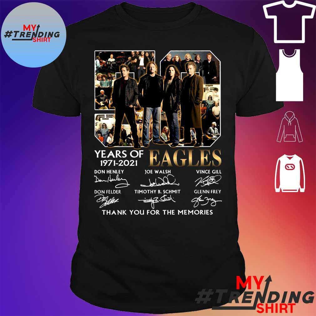 50 years of 1971-2021 eagles thank you for the memories shirt