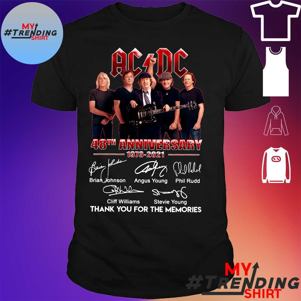 ACDC 48th anniversary 1973 – 2021 thank you for the memories signatures shirt