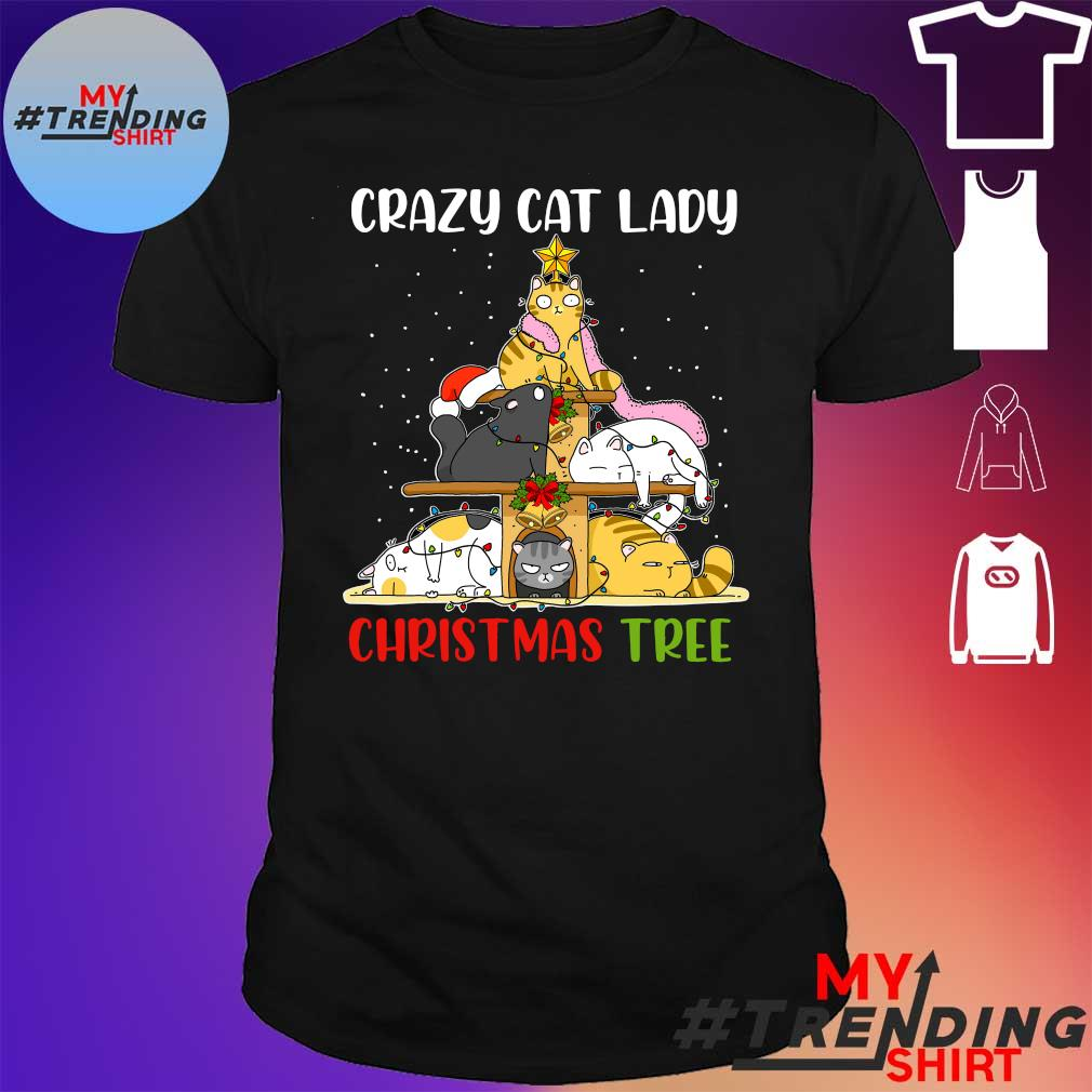 Crazy Cats lady Christmas Tree shirt