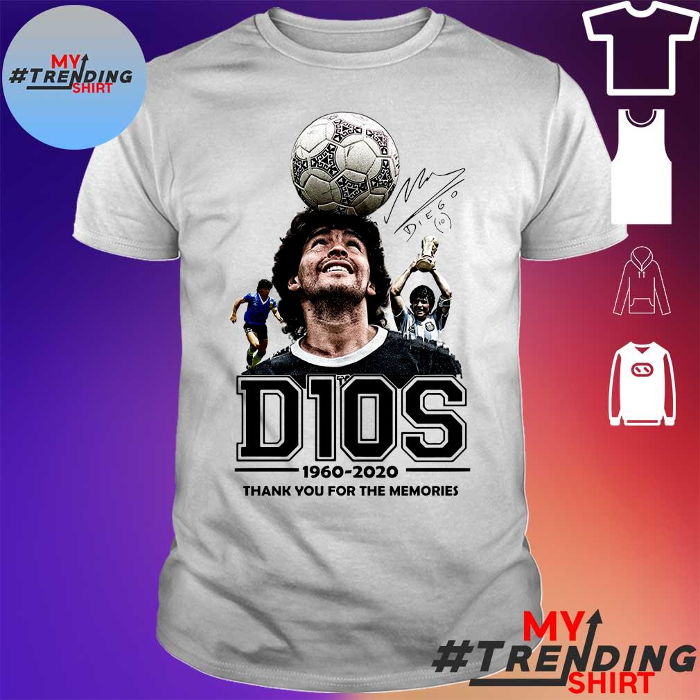 D10s 1960 - 2020 thank you for the memories shirt
