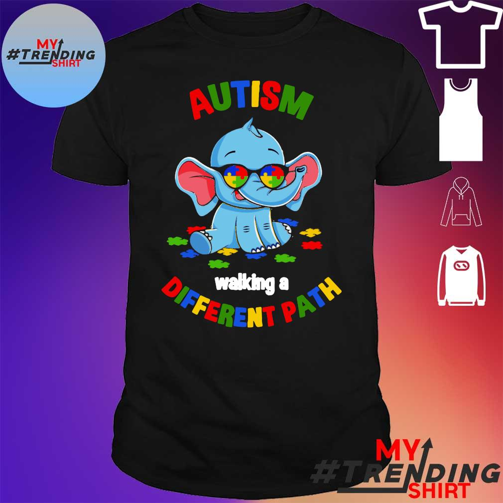Elephant autism walking a different path shirt