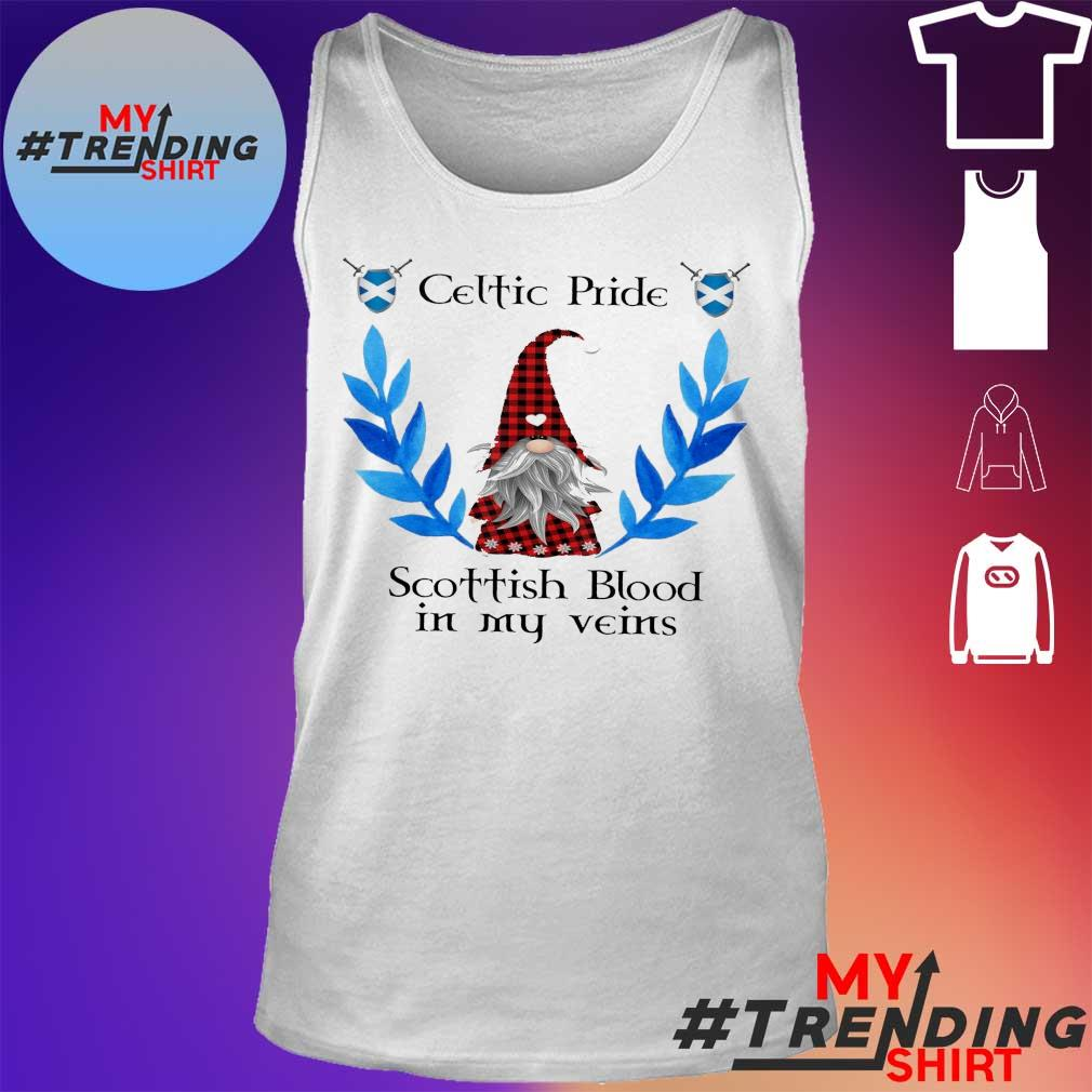 Gnome celtic pride scottish blood in my veins s tank top