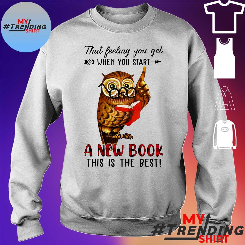 Owl That feeling you get when you start a new book this is the best s sweater