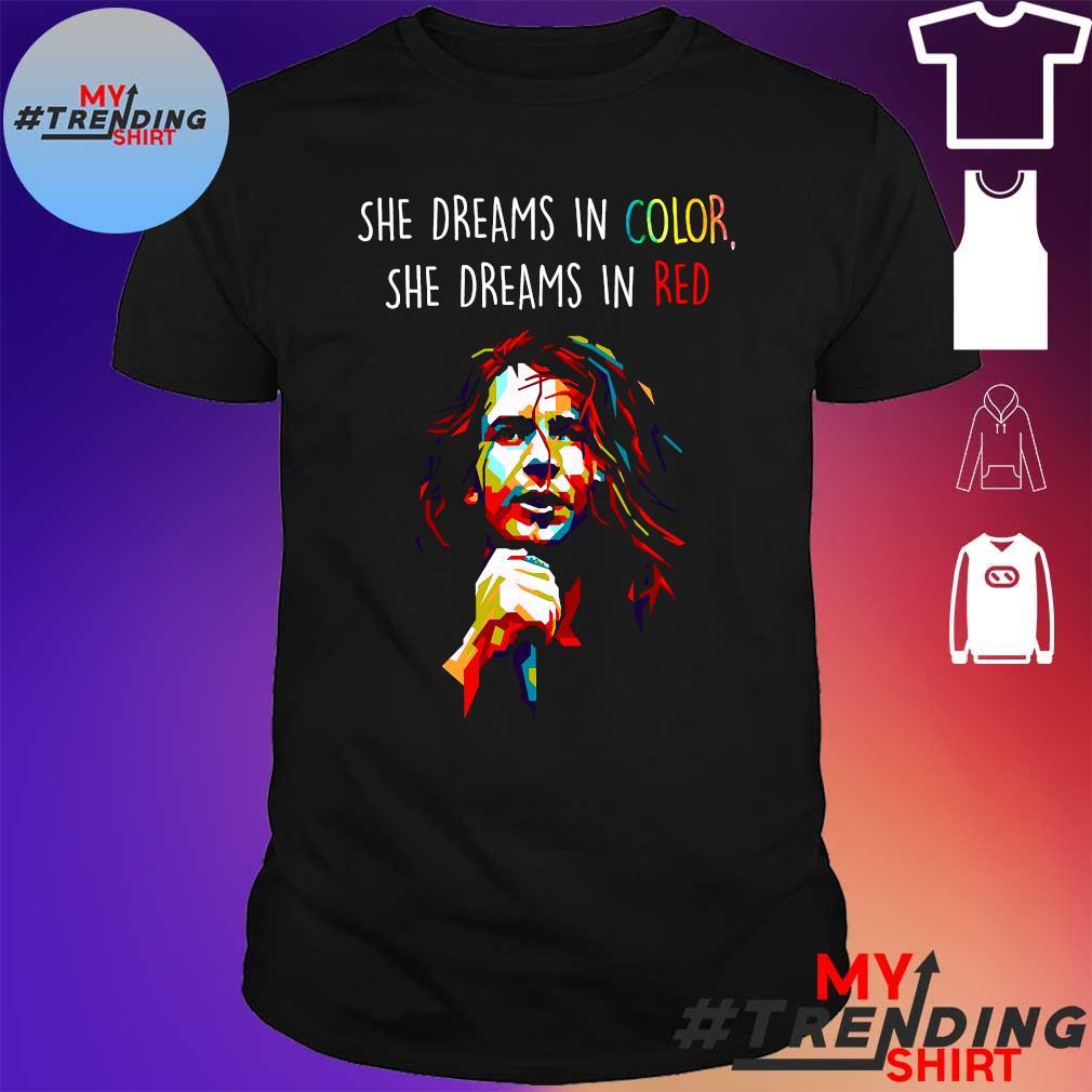 Pearl Jam She dreams in color she dreams in red shirt