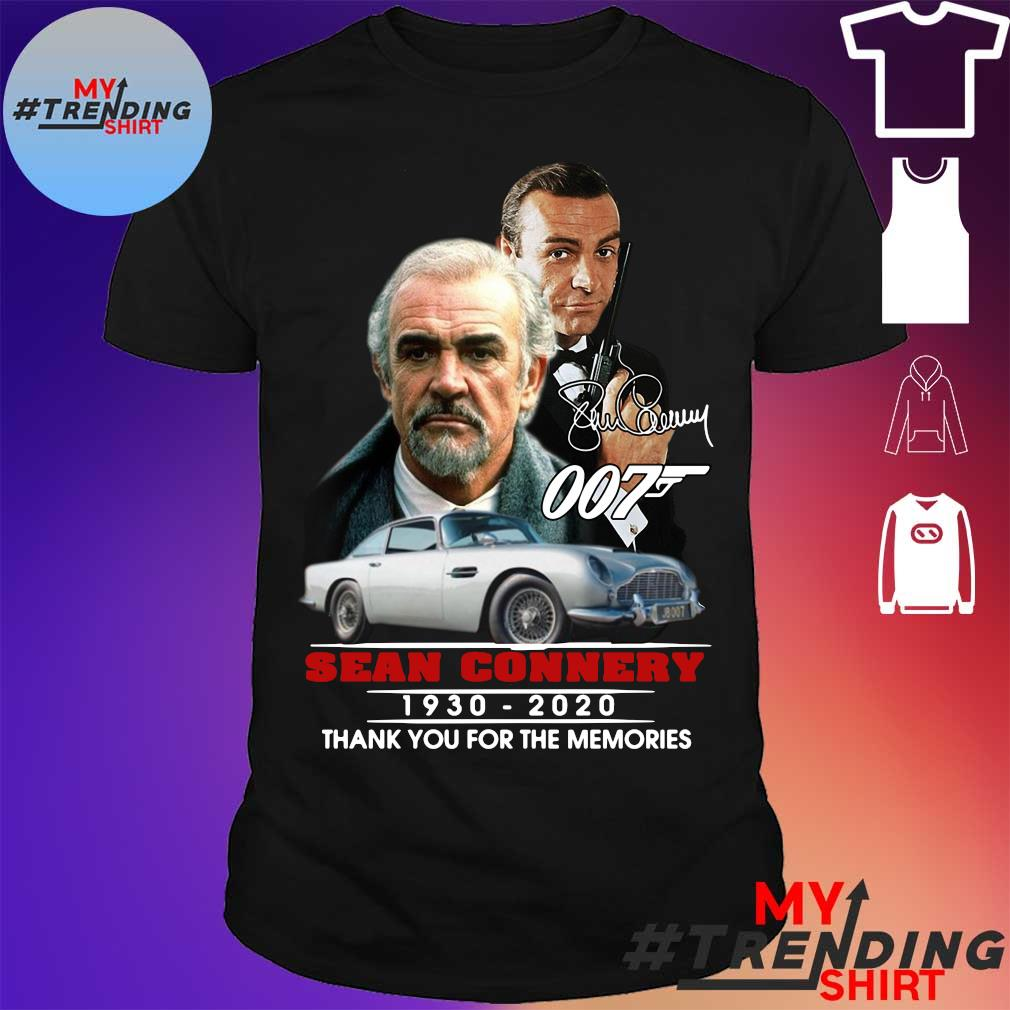 Sean Connery 007 1930 2020 Thank You For The Memories Signature Shirt