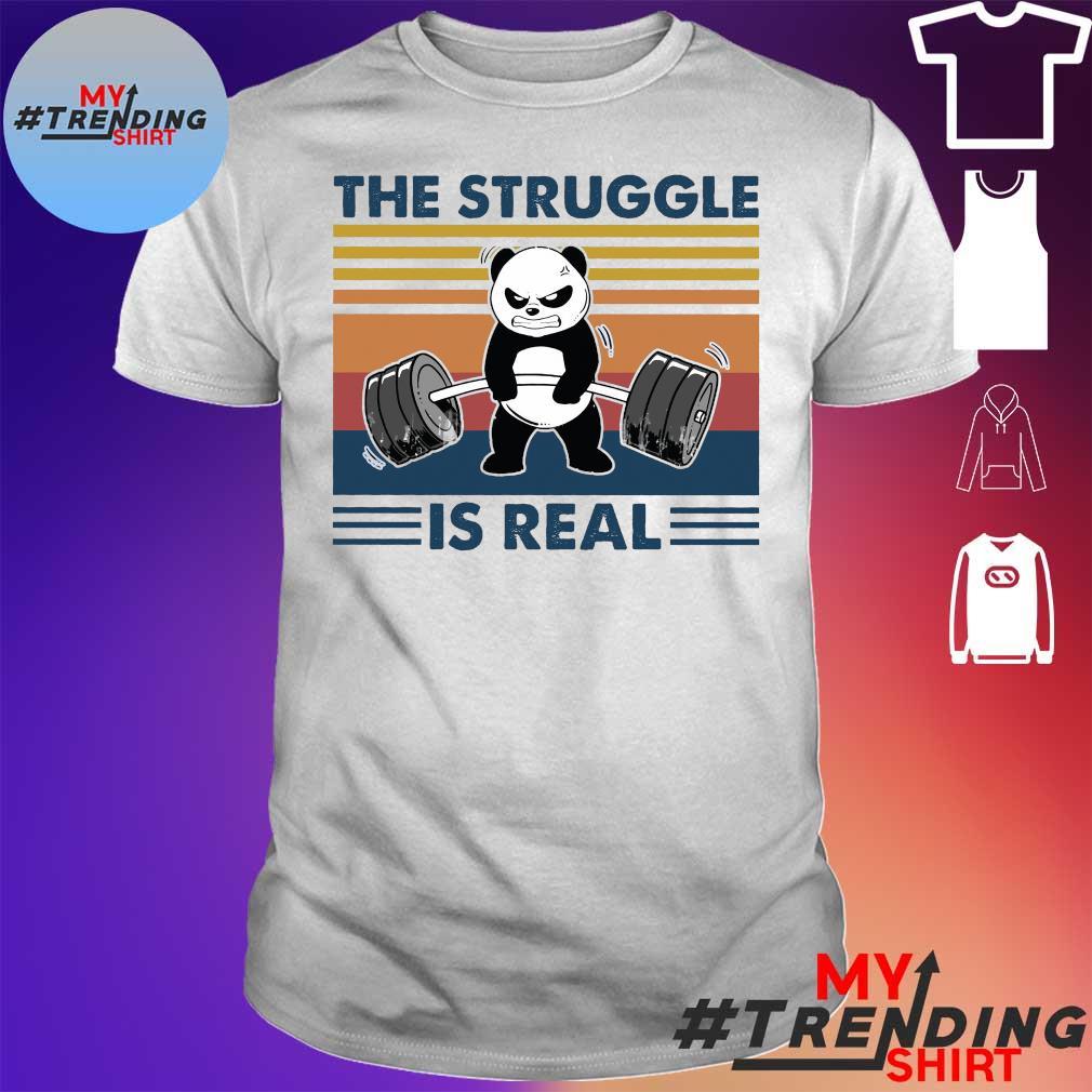 Panda the struggle is real vintage shirt